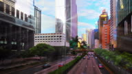 Morning city and sun reflection video