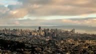 Morning Clouds Over San Francsico Time Lapse video