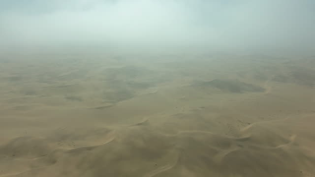 Morning clouds over the Namibian desert video