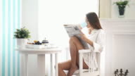 Morning coffee and newspapers. video