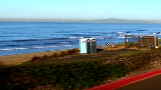 Morning Drive on Pacific Coast Highway in California video