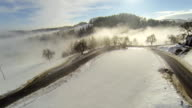 HD HELI: Morning Fog Covering The Countryside video
