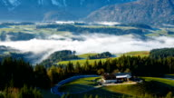 Morning fog in the Austrian Alps video