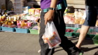 morning market in Thailand video