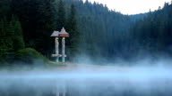 morning mist on the lake video