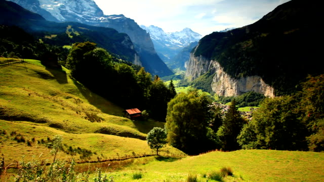 morning of Jungfrau valley video