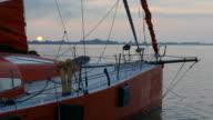 morning on the yacht marina video