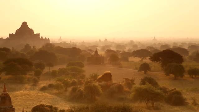 Morning Panorama in Bagan Myanmar video