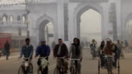Morning Street Scene: Lucknow, India video