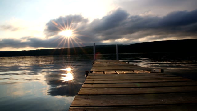 Morning Sun at Dock Lake video