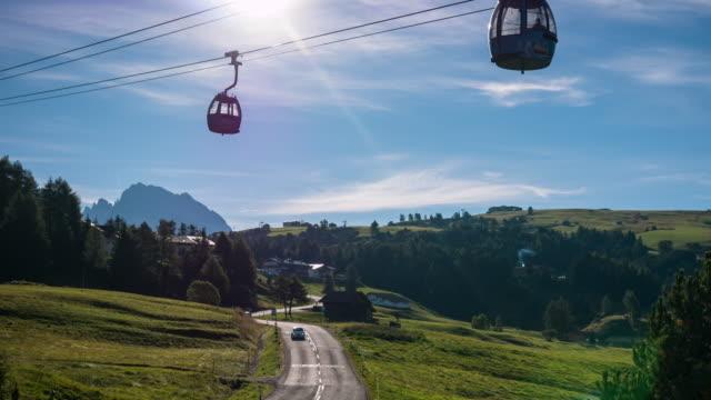 Morning sunrise at Seiser alm, Dolomites video