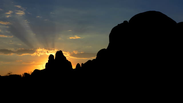 Morning time lapse at Skull Rock Joshua Tree National Park video