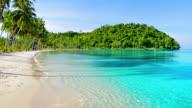 Morning tropical beach video