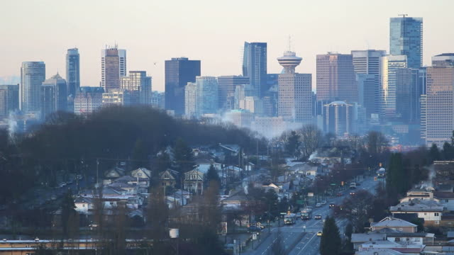 Morning Vancouver Cityscape video