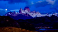 Morning view of Fitz Roy in Southern Patagonian Ice Field video