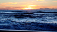 Morning view of Pacific Ocean waves video