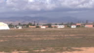 Moroccan airfield from driving aircraft video