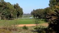 Moroccan golf field video