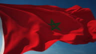 4K Morocco Flag - Loopable video