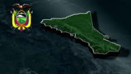 Morona Santiago with Coat Of Arms Animation Map video