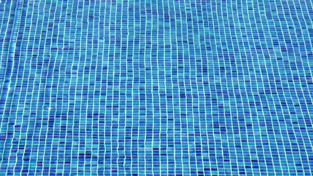 Mosaic on pool floor video
