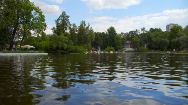 Moscow: a Pond in Gorky Park, catamarans video