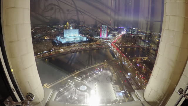 Moscow at night video