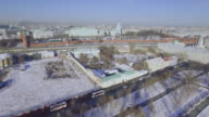 Moscow central district aerial video