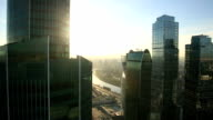 Moscow City skyscrapers video