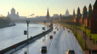Moscow Kremlin embankment, time-lapse video
