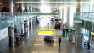 Moscow, Russian Federation – August 07, 2015: Interior of Sheremetyevo aiport terminal D. video