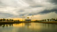 Mosque and storm cloud video