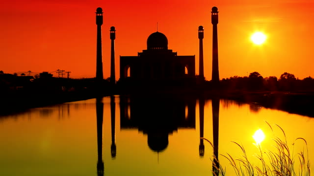 Mosque at dusk video
