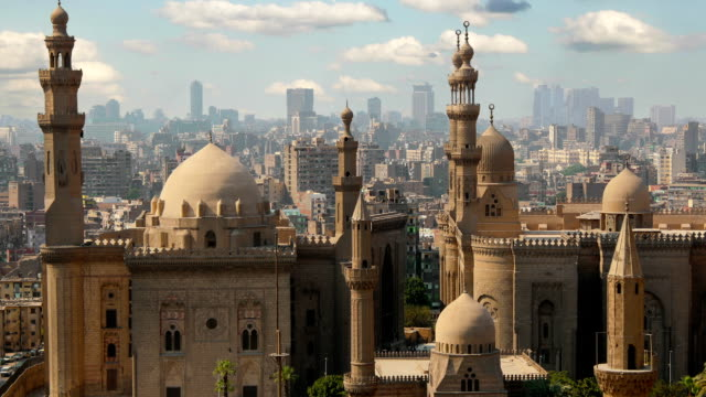 Mosque of Sultan Hassan. Cairo.  Egypt. Timelapse video