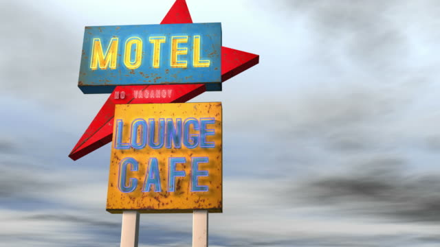 Motel Neon Sign Combo HD video