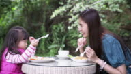 Mother and Daughter at Breakfast video