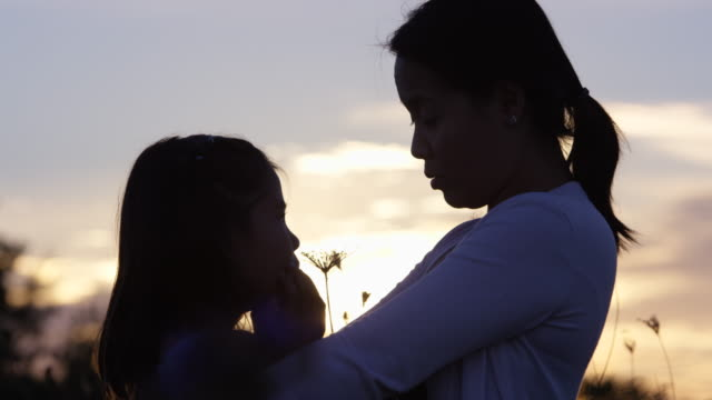 Mother and Daughter at Sunset video