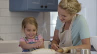 Mother and Daughter Baking Cookies video