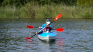 Mother and daughter canoe video