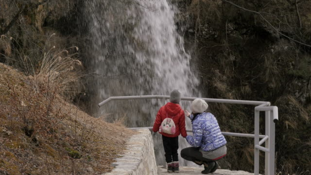Mother and Daughter Hiking video