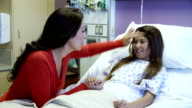 Mother And Daughter In Pediatric Ward Of Hospital video
