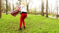 Mother and daughter in the park video