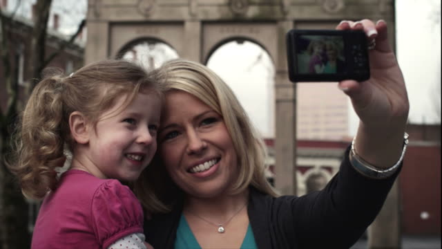 Mother and Daughter Take Picture video