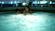 mother and son in hot tube video