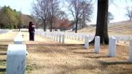 Mother and Son Visiting Grave Site video