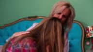Mother Comforting Upset Adult Daughter Over Break Up video