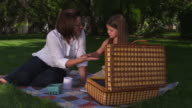 Mother daughter picnic video