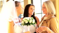 Mother Grandmother Admiring Bridal Bouquet video