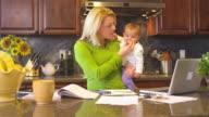Mother multitasking video