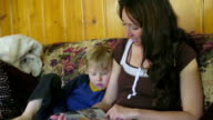 Mother reads to child video